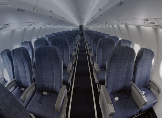 Fireproof textiles used in the aerospace industry